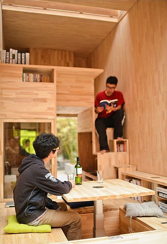 Estudantes chineses constroem casa de apenas sete metros quadrados
