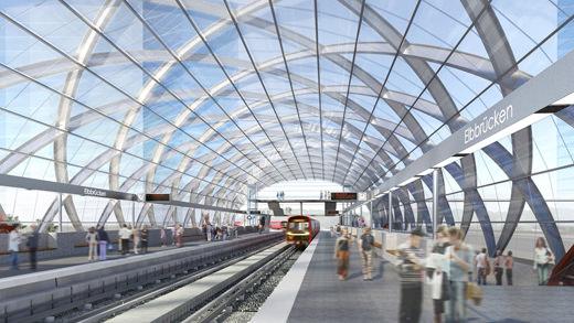 Fachada de vidro integrará estação de metrô alemã a seus arredores